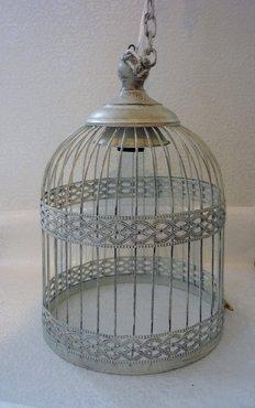 Hanglamp vogelkooi wit