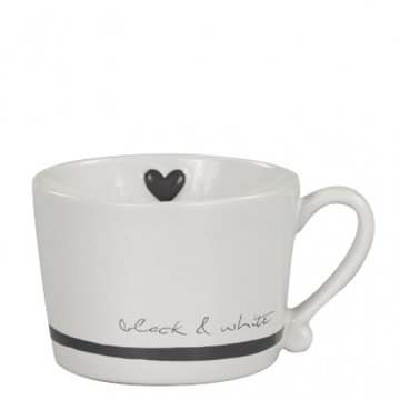 Bastion Collections Mug Black & White Coffee