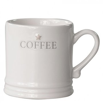 Bastion Collections Mug Large White/Coffee in Grey