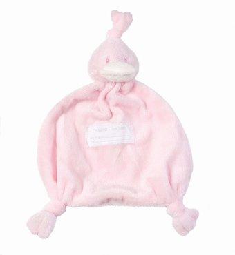 BamBam knuffeldoekje eend Pink
