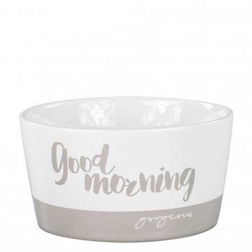 Bastion Collections Bowl 13,5cm Titane Goodmorning Gorgeous White