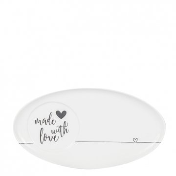 Bastion Collections Oval Plate White made with love