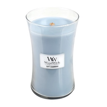WoodWick® Large Candle Soft Chambray Fragrance Of The Month