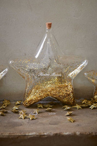 Riviera Maison Big Star Decoration Bottle gold L