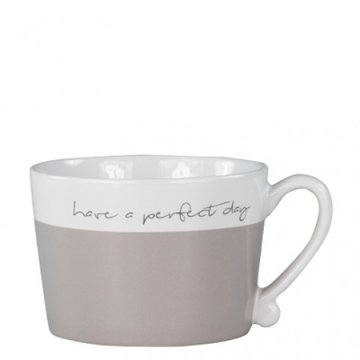 Bastion Collections Mug White/Titane Have a Perfect Day in black