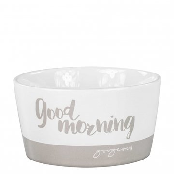 Bastion Collections Bowl 13,5cm Titane Goodmorning Gorgeous White