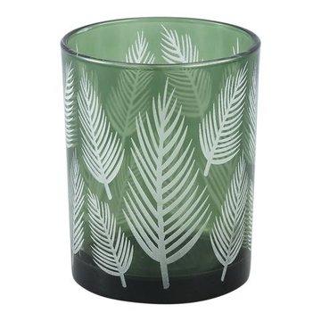 PTMD Yerba green Glass vase fern round m