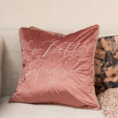Riviera Maison La Belle Epoque Pillow Cover Velvet Faded Pink