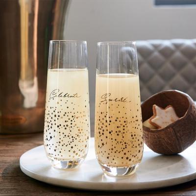 Riviera Maison Sparkle Celebrate Champagne Glasses 2 Pcs