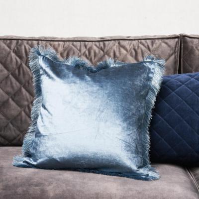 Riviera Maison Fabulous Fringe Pillow Cover Blue