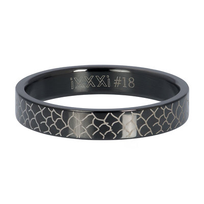 IXXXI Jewelry Vulring Black Snake 4 mm