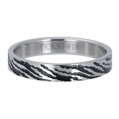 IXXXI Jewelry Vulring Zebra Zilver 4 mm