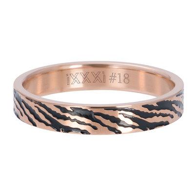 IXXXI Jewelry Vulring Zebra Rose 4 mm