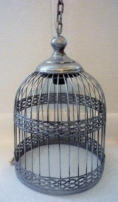 Hanglamp vogelkooi grijs