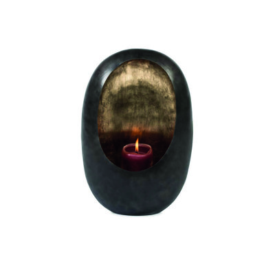 Egg Candle Medium Black