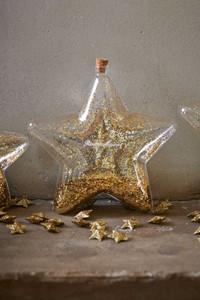 Riviera Maison Big Star Decoration Bottle Gold M