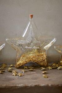 Riviera Maison Big Star Decoration Bottle gold L