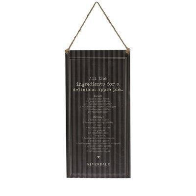 Riverdale Tekstbord Ingredients Black