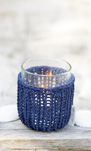 Riviera Maison Shelter Summer Knit Votive blue