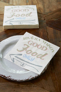 Riviera Maison Good food Only Paper Napkin
