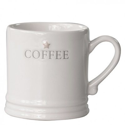 Bastion Collections Mug Small White/Coffee in Grey