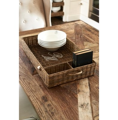 Riviera Maison Rustic Rattan Partition Tray 60 x 35