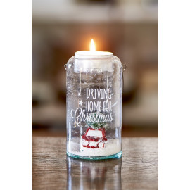 Riviera Maison Driving Home For Christmas Tealight Holder