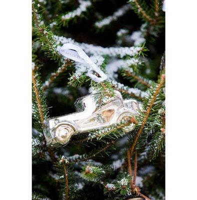 Riviera Maison Driving Home... Silver Car Ornament