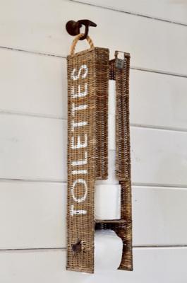 Riviera Maison Rustic Rattan Toilet Roll Holder
