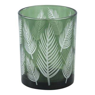 PTMD Yerba green Glass vase fern round m