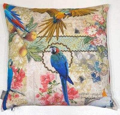 Sierkussen Pol Birds and Flower