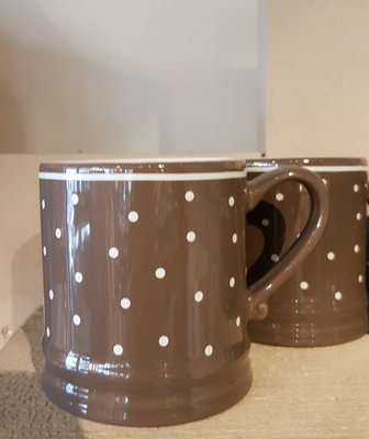 Bastion Collections Mug Small Brown with Dots