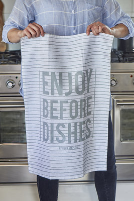 Riviera Maison Enjoy Before Dishes Tea Towel