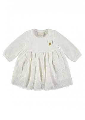 Angels Face Lace Baby Dress Snowdrop White