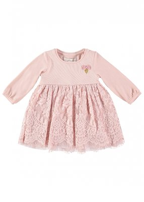 Angels Face Lace Baby Dress Blush Pink