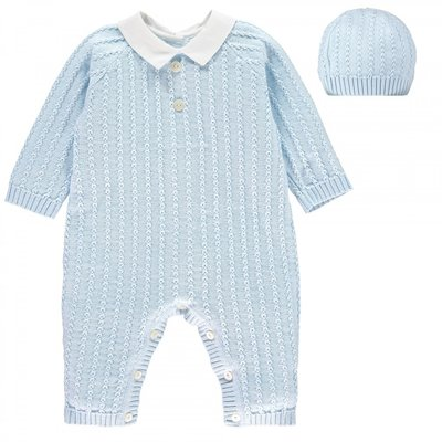 Emile et Rose Nick Smart Knit Babysuit & Hat set 1 maand