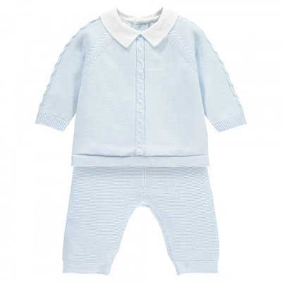 Emile et Rose Noah Boys Knit Two Piece & Hat Outfit 1 maand