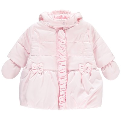Emile et Rose Nicola Baby Girls Jacket with Hood & Mitts 3 maanden
