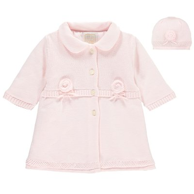Emile et Rose Norma Baby Girls Cosy Knit & Hat Set 3 maanden