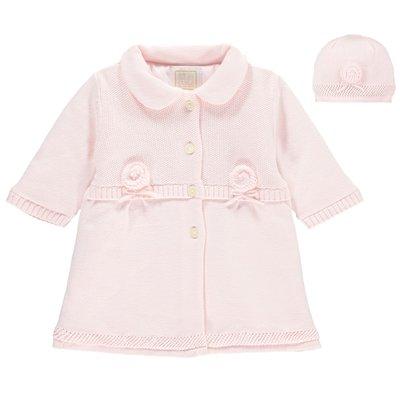 Emile et Rose Norma Baby Girls Cosy Knit & Hat Set 6 maanden