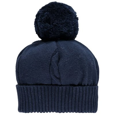 Emile et Rose Fuzzy Bobble Hat Navy