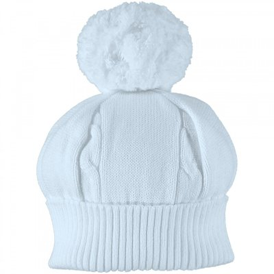 Emile et Rose Fuzzy Blue Bobble Hat