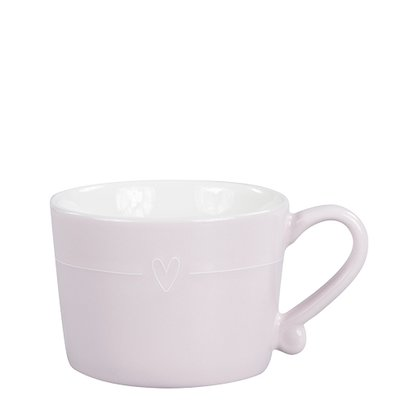 Bastion Collections Mug Small Rose with line heart white