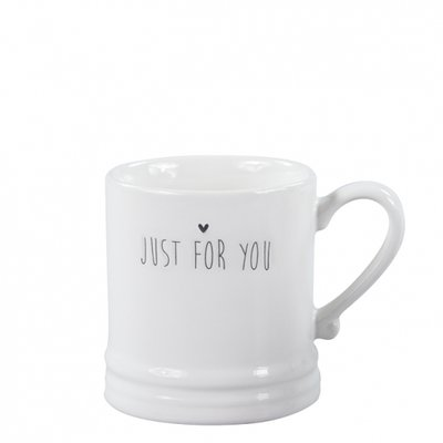 Bastion Collections Mug Small White Just for you & heart in black