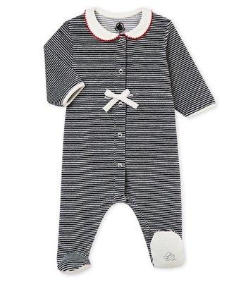 Le Petit Bateau Pyjama met milleraies strepen voor babymeisjes