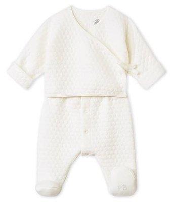 Le Petit Bateau 2-in-1 pyjama in doorgestikte tubic