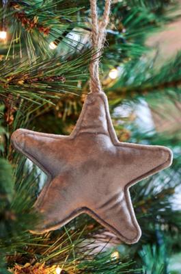 Rivièra Maison Velvet Star Ornament Grey S