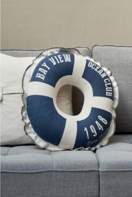 Rivièra Maison Stromboli Lifebuoy Pillow Blue