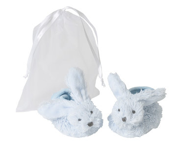 Blauwe Baby Slofjes In Gift-bag Happy Horse Blue Rabbit Richie