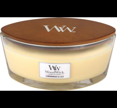 WoodWick Candle Lemongrass & Lily Ellipse